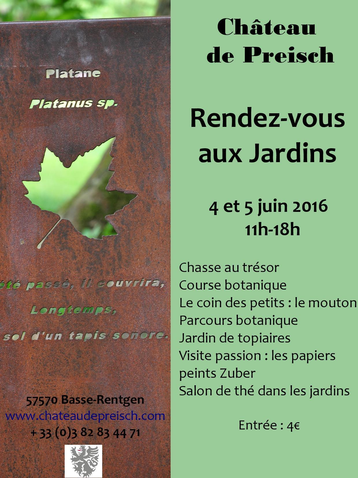 Affiche RDV Jardins 2016